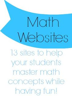 The Center Based Classroom: Math Websites!
