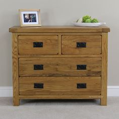 Rustic Oak 2 over 2 Drawer Chest