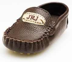 Monogrammed baby loafers!!
