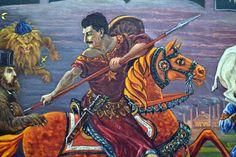 Аллегория  Алексея  Столбова - Fra Евгений. Это, как я понимаю, сам Виссарионыч на лихом коне - в образе Георгия Победоносца.