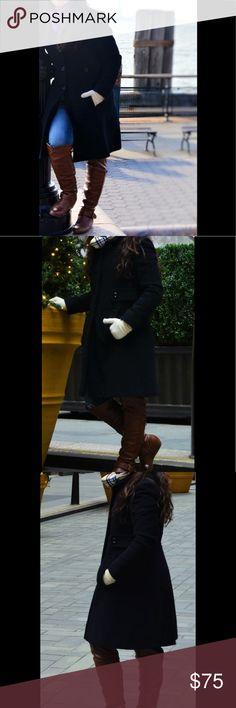 Black trench coat Black trench coat Worthington Jackets & Coats Trench Coats