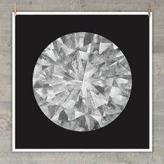 """love this: Moon Diamond"""" is a large-format photographic print of an image of the moon that was dissected and reassembled to form a diamond. Printed on heavyweight matte coated paper on a Canon plotter."""