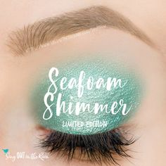 Limited Edition Seafoam Glitter ShadowSense is gorgeous sea green - this eyeshadow is so easy to apply and blends beautifully.  #senegence #shadowsense #eyeshadow #limitededition