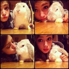 Chrissy and her cute bunny