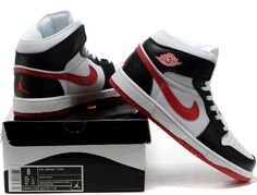 half off 517cb 54ab6 Jordans 1 White Black Red,click the picture to buy it.