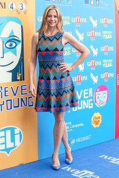 Mira Sorvino arriving on the red carpet for the 2013 Giffoni Film Festival in Giffoni Valle Piana, Italy - July 21, 2013 - Photo: Runway Manhattan/Marco Provvisionato
