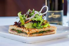 The Restaurant at Leoness Cellars panini perfection paired with Leoness wine.