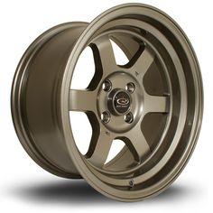 15 ROTA GRID-V BRONZE 8J 4 stud 0 offset alloy wheels