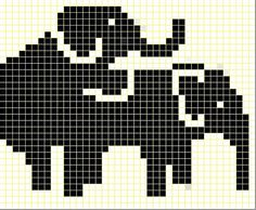 Humping Elephants Chart by littleredbicycle, via Flickr (FREE PATTERN)