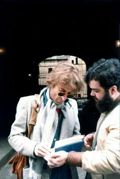 John..giving an Autograph..On The Morning of Dec.8th..1980.! ✌