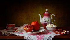 Still life with pomegranates - null