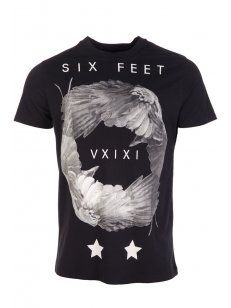 Blood Brother Six Feet T-Shirt in Black