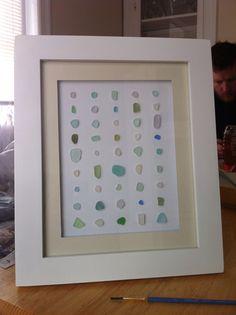DIY Homemade sea glass art piece