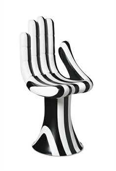 Pedro Friedeberg black and white hand chair