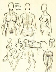 Female Anatomy Study 1 by ~0ImagInc0 on deviantART http://www.pinterest.com/david3922/life-drawing-anatomy/