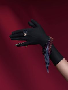 black gloves