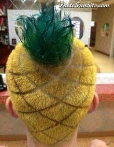 cool Pinapple Hairstyle.  - Repin if you like it. More humor on the Photofunsite.com