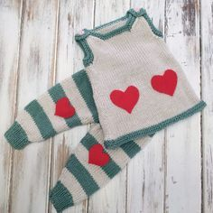 It's getting closer to Valentine's Day! If you are looking for patterns for your little ones, here is a sweet set that is sure to be just what you are looking for: Valentine's Baby Dress Striped Baby Pants Knitting For Kids, Easy Knitting, Baby Knitting Patterns, Knitting Projects, Crochet Projects, Knitting Ideas, Crochet Patterns, Knit Baby Pants, Baby Pants Pattern