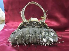 Mary Frances Vintage Handbag #MaryFrances #EveningBag Mary Frances Handbags, Vintage Handbags, Evening Bags, Purses And Bags, Bling, Accessories, Shoes, Jewelry, Art