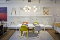 Chairs, chairs and more chairs.   Visit DWR West Hollywood today. #dwrwesthollywood