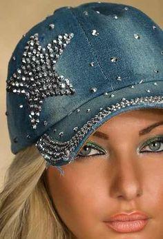 gorras para mujer decoradas - Buscar con Google