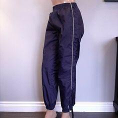 Vtg Reebok Windbreaker Jogger Track Pants Womens Small Blue Zip Ankle 100% Nylon #Reebok #TrackPants #Activewear Dark Navy Blue, Reebok, Activewear, Parachute Pants, Joggers, Windbreaker, Pants For Women, Track, Ankle