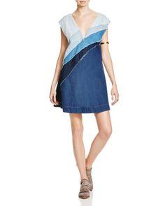 85faf2225c0 Free People Patchwork Denim Dress Denim Dresses Online
