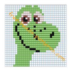 Disney The Good Dinosaur Arlo free perler beads pattern iron beads glue beads Hama Beads