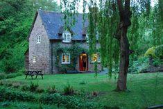 Stone cottage.