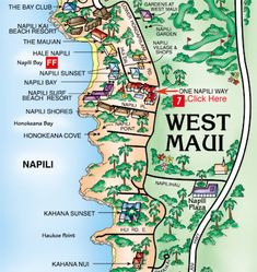 Printable map of maui hawaii google search maui pinterest napili maui favorite place to stay altavistaventures Gallery