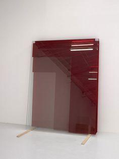 Untitled (4Glass Panes - Red) I by Armando Andrade Tudela