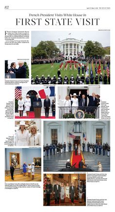French President Visits White House in First State Visit The Epoch Times #newspaper #editorialdesign