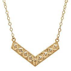 jcp | Infinite Gold™ 14K Yellow Gold Chevron Necklace
