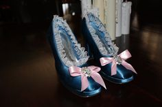 Blue and Pink Rococo Marie Antoinette inspired shoes by RedAries09
