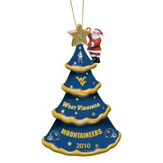 west virginia christmas ornaments | 2010 Annual West Virginia Mountaineers Ornament - The Danbury Mint