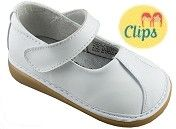 WeeSqueak White Clip Mary Janes $32.95 http://www.meandmyfeet.com/WeeSqueak-White-Clip-Mary-Janes #White #Clip #MaryJanes #Girls #Shoes #Infant #Toddler #Childs #Kids