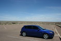 lovely True Blue Mazda 3... and it's MINE! ;D