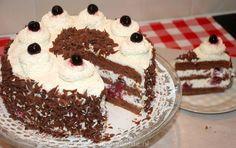 Schwarzwalder kersentaart (Schwarzwälder Kirsch) - Keuken♥Liefde Dutch Recipes, Pie Recipes, Baking Recipes, Cake Cookies, Cupcake Cakes, Surprise Cake, Pie Cake, Baked Goods, Bakery