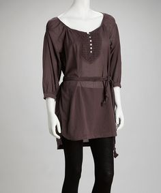 Take a look at this Orchid Mist Tie-Waist Tunic by Da-Nang on #zulily today!
