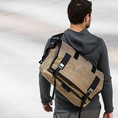 AP edition waxed canvas Rummy messenger bag by Mission Workshop.
