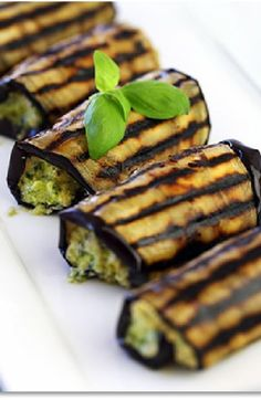 Low FODMAP and Gluten Free Recipe - Grilled eggplant with salsa verde  (updated) - http://www.ibssano.com/low_fodmap_recipe_grilled_eggplant_salsa_verde.html