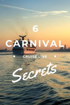 Cruise holidays can sometimes be a little baffling. If you're planning on setting sail with Carnival Cruise Line, here are 6 Carnival Cruise Line secrets to help you have an amazing time. Ton Cruise, Best Cruise, Cruise Tips, Cruise Travel, Cruise Vacation, Vacation Ideas, Eden Australia, World Cruise, Cruise Holidays