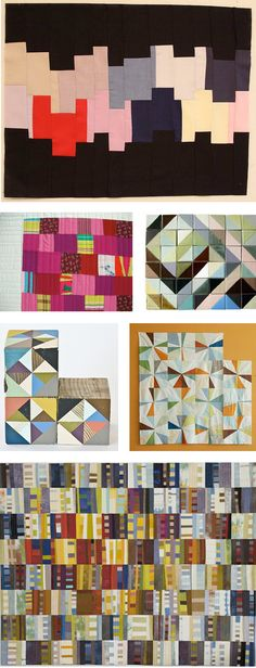 A collage of quilt ideas
