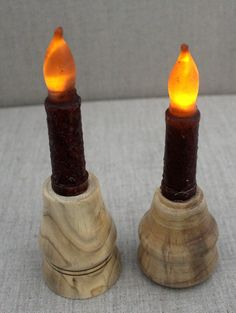 Pair of Natural Wood Candlestick Holders with by WrenSongWoods Candlestick Holders, Candlesticks, Natural Wood, Handmade Gifts, Etsy, Decor, Candle Holders, Kid Craft Gifts, Candle Sticks