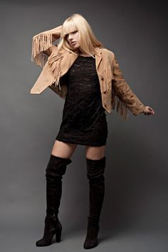 Fringed Suede Leather Jacket Tan Beige Western by shoprabbithole, $99.00