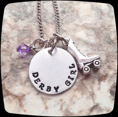 Roller Derby Gift, Derby Girl Jewelry, Roller Derby Necklace, Derby Skate, Derby Gift
