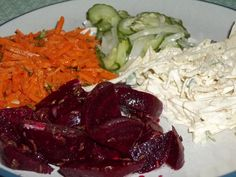 German Salad Recipes- I am so glad I found this! When we lived in Germany, restaurants would serve a plate with a variety of salads!  Jessy.....you probably don't remember but you would only eat potatoes.