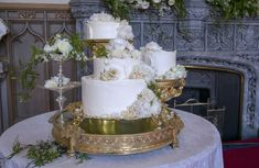 The Cake - The wedding cake was made by Claire Ptak of London-based bakery Violet Cakes.