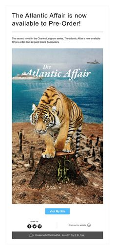 The second novel in the Charles Langham series, The Atlantic Affair is now available for pre-order from all good online booksellers. I Site, Book Series, Shout Out, Affair, Two By Two, Novels, Books, Libros, Book