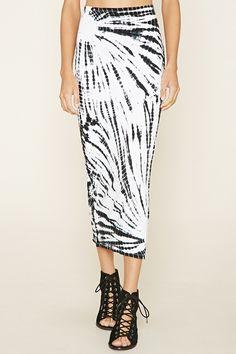 Motel Tie-Dye Midi Skirt